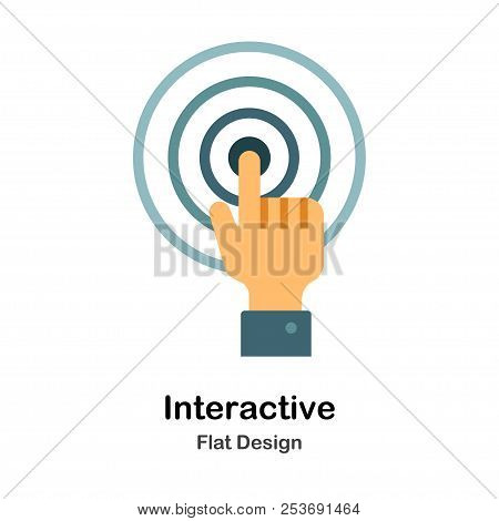 Interactive Icon In Flat Color Design Vector Illustration