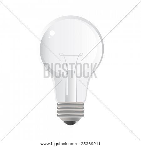 light bulb isolated on white, vector illustration