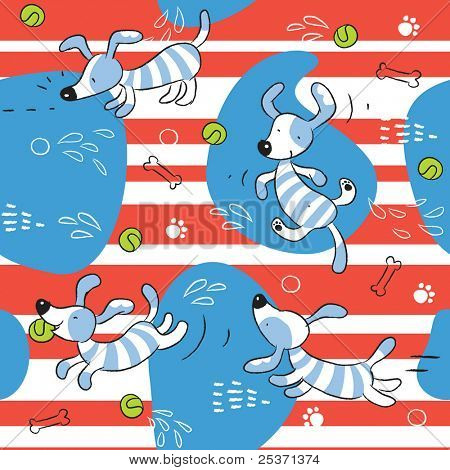 baby dog seamless pattern background