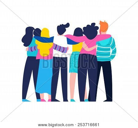 Diverse Friend Group Vector Photo Free Trial Bigstock