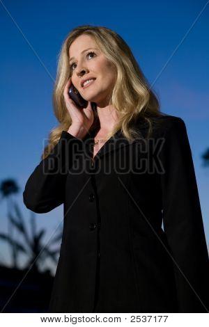Business Woman Outside
