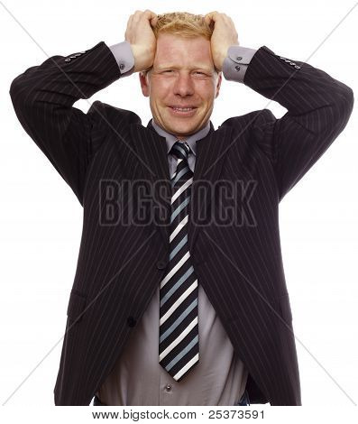 Businessman distressed