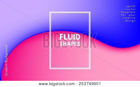 Colorful Liquid Shapes. Abstract Background With Gradient. 3d Composition With Bright Fluid. Eps10 V