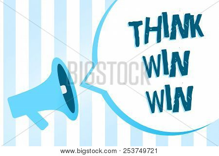 Handwriting Text Writing Think Win Win. Concept Meaning Business Strategy Competition Challenge Way