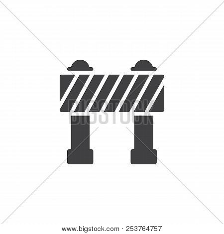 Barrier Vector Icon. Filled Flat Sign For Mobile Concept And Web Design. Security, Hurdle Simple Sol