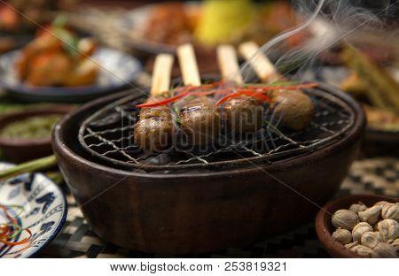 Chicken Satay Or Sate Ayam - Malaysian And Indonesian Famous Food. Satay, Modern Indonesian And Mala