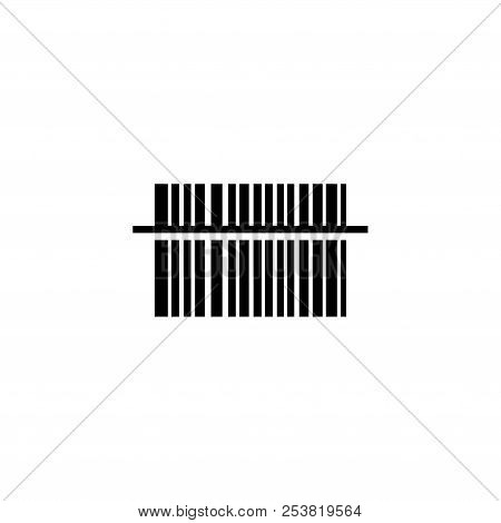 Scan Bar Code. Flat Vector Icon Illustration. Simple Black Symbol On White Background. Scan Bar Code