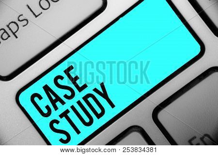 Word Writing Text Case Study. Business Concept For A Subject Matter To Be Discussed And Related To T