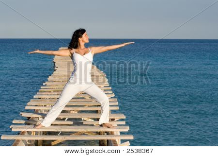 Tai Chi At The Beach