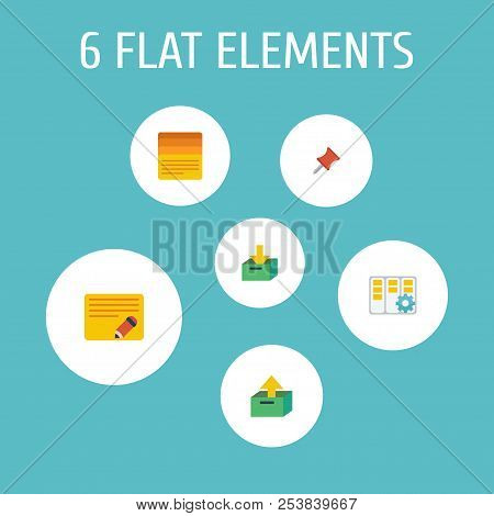 Set Of Management Icons Flat Style Symbols With Edit Task, Task Manager, Task List And Other Icons F