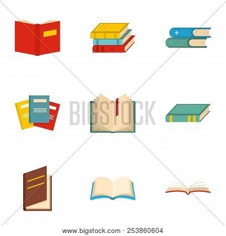 Reader Icons Set. Cartoon Set Of 9 Reader Icons For Web Isolated On White Background