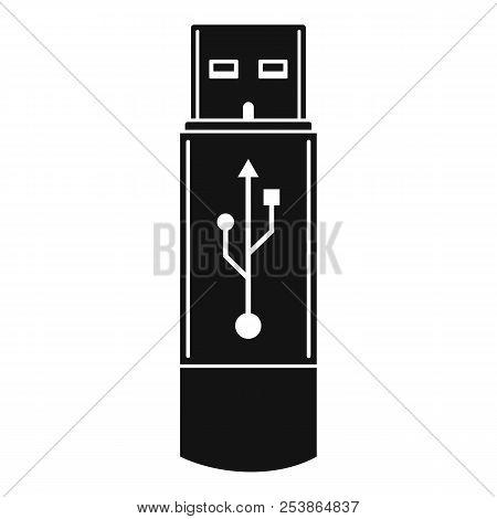 Portable Flash Drive Icon. Simple Illustration Of Portable Flash Drive Icon For Web