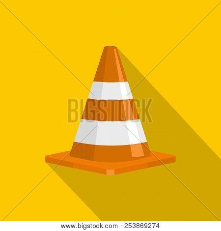 Forbidden Cone Icon. Flat Illustration Of Forbidden Cone Icon For Web