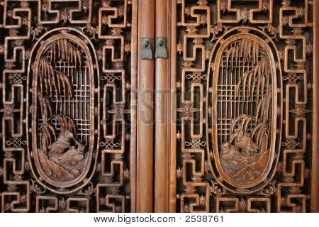 Door With Wood Carvings
