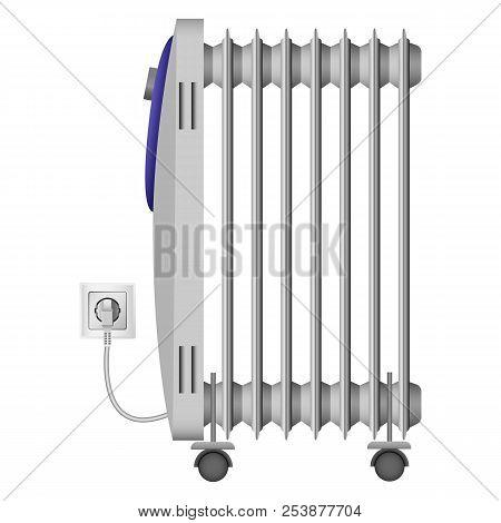 Portable Heater Mockup. Realistic Illustration Of Portable Heater Mockup For Web