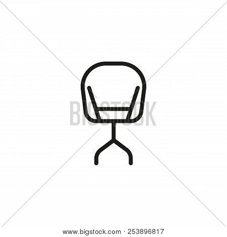 Modern Chair Line Icon. Rest, Cafe Chair, Office. Chair Concept. Vector Illustration Can Be Used For