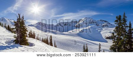 The Peak Of Whistler Mountain On A Sunny Day.