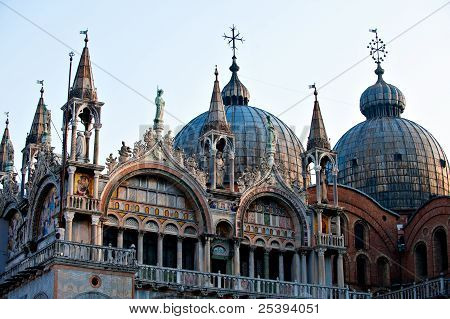 Detail of Basilica di San Marco located on Piazza San Marco in Venice poster