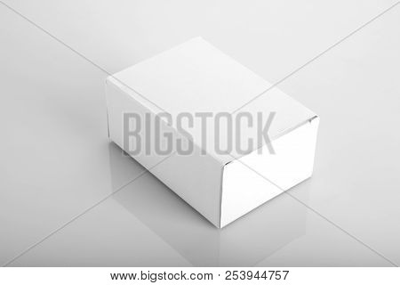 Clean White Blank Product Packaging Box For Mock Ups