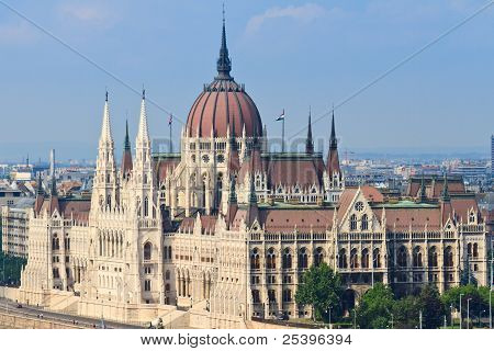 View of Hungarian Parliament (Budapest / Eastern Europe) poster