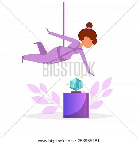 Thief Robbing A Jewelry Store Or Museum. Diamond. Robber. Vector.