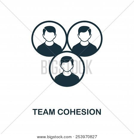 Team Cohesion icon. Monochrome style icon design from project management icon collection. UI. Illustration of team cohesion icon. Ready to use in web design, apps, software, print. poster