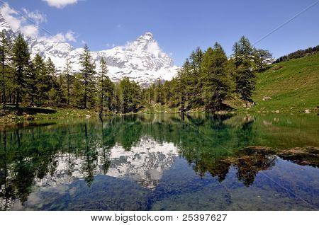 Blue lake, Italy