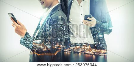 Mobile Phone Telecommunication Technology Concept