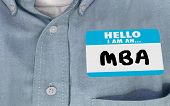 Hello I Am an MBA Master Business Administration Name Tag 3d Illustration poster