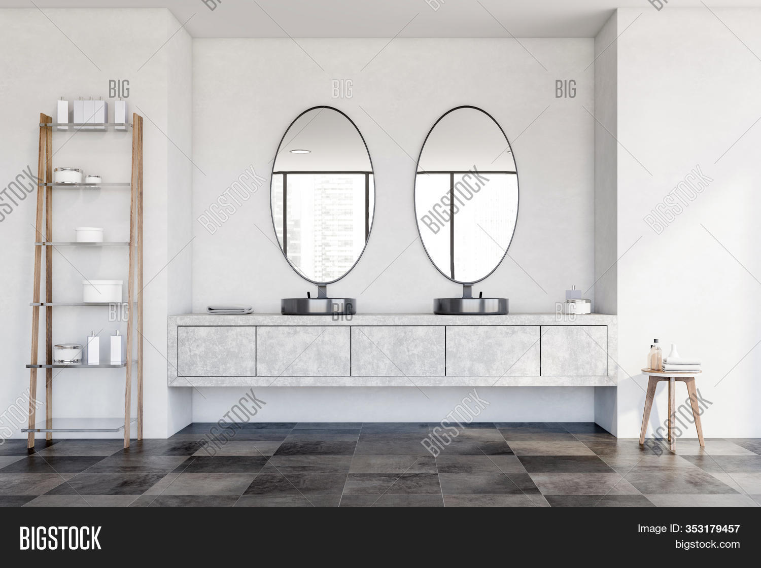 Round Double Sink Image Photo Free Trial Bigstock