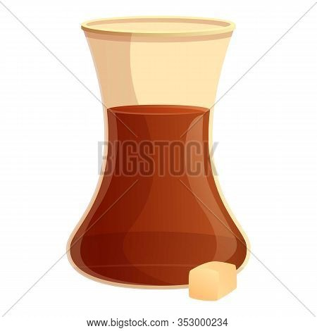 Turkish Coffee Icon. Cartoon Of Turkish Coffee Vector Icon For Web Design Isolated On White Backgrou