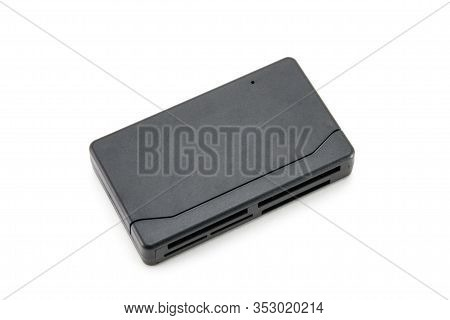 The Adapter, The Card Reader Is Rectangular, Black For All Types Of Flash Cards And Storage Devices.