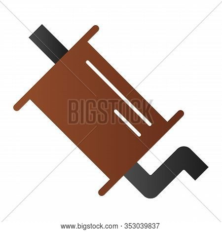 Exhaust Pipe Flat Icon. Muffler Vector Illustration Isolated On White. Car Part Gradient Style Desig
