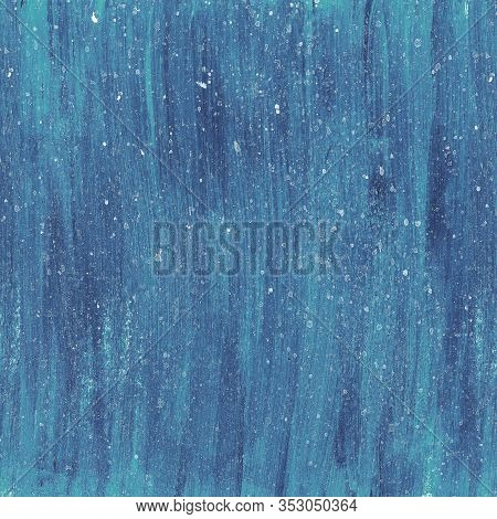 Bright Blue Abstract Watercolor Textured Background With Dots