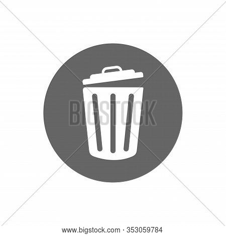 Vector Icon Trash Can . Lorem Ipsum Illustration Design. Trash Can, Rubbish Bin. Flat Vector Icon Il