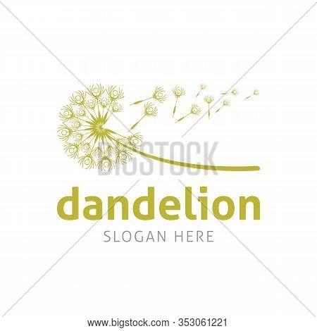 Blowing Dandelion Flower Vector Best For Marketing Strategy Company Logo, Spiritual Service, Healthc