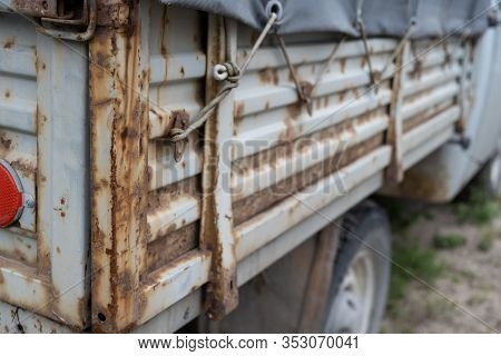Rusty Car Body. Old Rotten Body. Natural Rusty.
