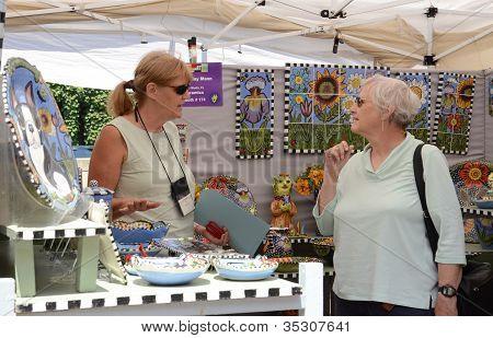 Toni Mann At Ann Arbor Art Fair