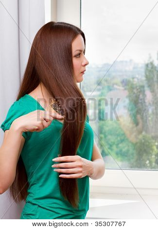 Womanl At The Window