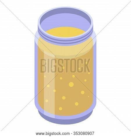 Persimmon Smoothie Icon. Isometric Of Persimmon Smoothie Vector Icon For Web Design Isolated On Whit