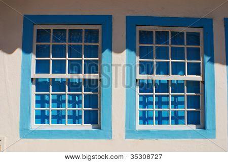 Double Blue Window
