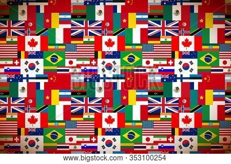 Bright Flags Of Sovereign States Wide Background