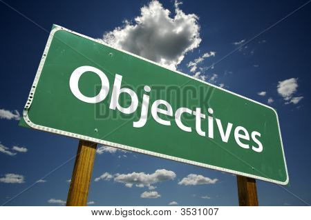 Objectives Road Sign