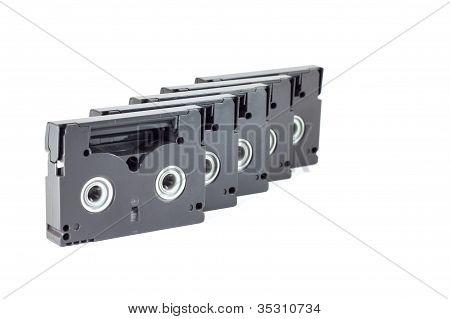 Mini Dv Tape On Row