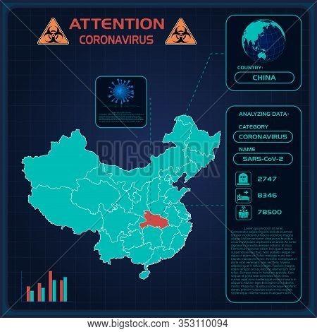 Coronavirus. Graphic Statistics Coronavirus In 2020 Of China. Wuhan Coronavirus 2019-ncov. Template