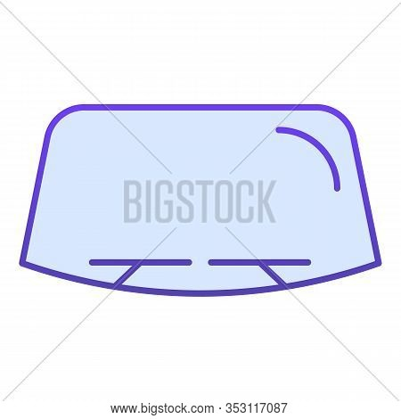 Windshield Flat Icon. Car Window Vector Illustration Isolated On White. Windscreen Gradient Style De