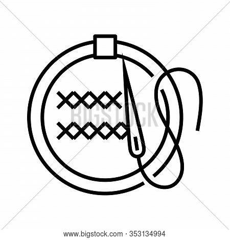 Fancywork Line Icon, Concept Sign, Outline Vector Illustration, Linear Symbol.