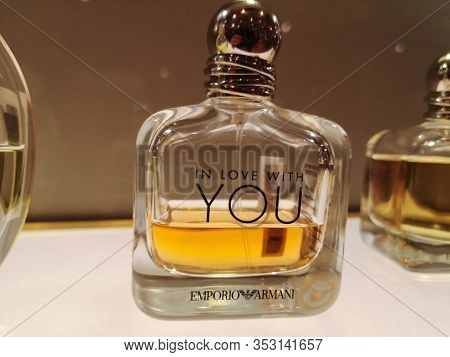 Female Aroma Of Spirits Of Passionate Love Emporio Armani In Love With You At The Perfume And Cosmet