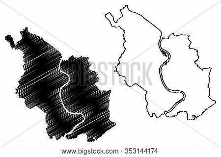 Cologne City (federal Republic Of Germany) Map Vector Illustration, Scribble Sketch City Of Cologne