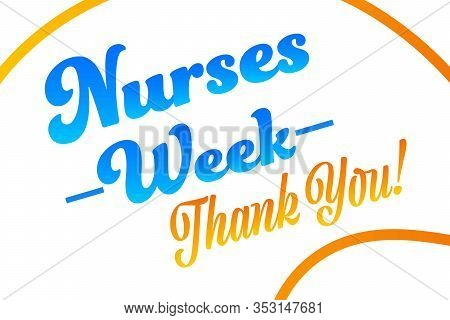 National Nurses Week. Holiday Concept. Template For Background, Banner, Card, Poster With Text Inscr